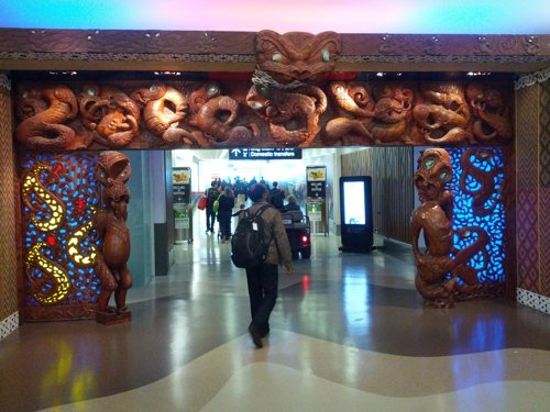 Neat archway at Auckland airport