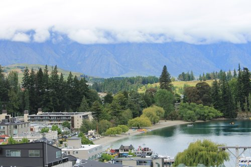 View of Queenstown from Brown's Boutique Hotel
