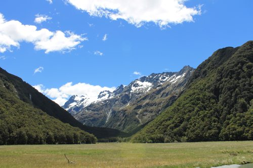 View from Routeburn Flats Hut, Routeburn Track