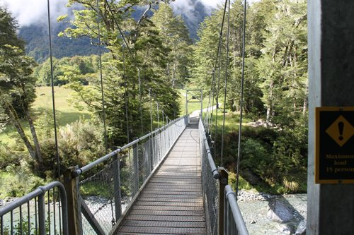 Routeburn Track entrance bridge