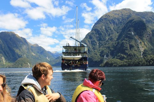 Exploring the fjords in a tinder boat