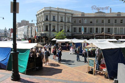 Market at The Octagon, Dunedin